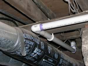 Vent fittings in a waste line. Chad, so what? The angles are too sharp and *stuff* will get caught and clog the pipe.